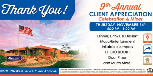 Academy Mortgage 9th Annual Client & Community Appreciation Bash!