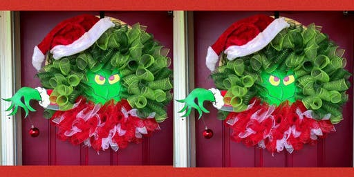 Grinch Wreath Making Party and Dinner-Hash House a Go Go