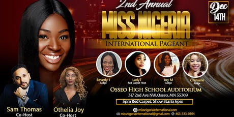 2nd Annual Miss Nigeria International Pageant 2019 tickets