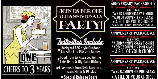 3rd Annual Anniversary Party