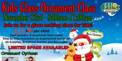 Kids Glass Ornament Making Class