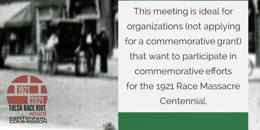 Commemoration Interest Meeting for Organizations