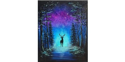 "Sip&Paint ""Starry Stag"""