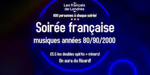 Soirée années 80/90/2000 organisée par Les français de Londres
