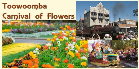 Warwick Toowoomba Return - Carnival of Flowers, Bus Tour & Lunch Available SPECIAL EVENT tickets