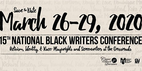15th National Black Writers Conference March 2020: Early-registration tickets