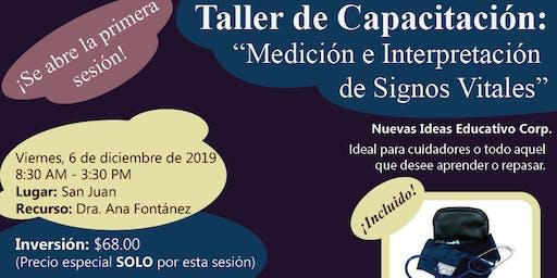 Taller: Medición e Interpretación de Signos Vitales