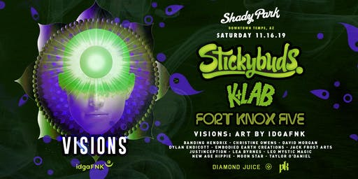 Stickybuds, K+Lab and Fort Knox Five at Shady Park Tempe