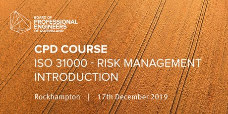 CPD Course ISO 31000 – Risk Management Introduction (Rockhampton) tickets