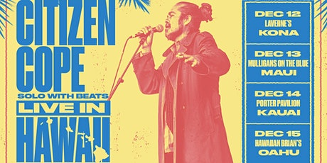 Citizen Cope at Porter Pavilion (December 14, 2019) tickets
