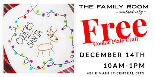 FREE FAMILY CRAFT! Cookie Plate for Santa!
