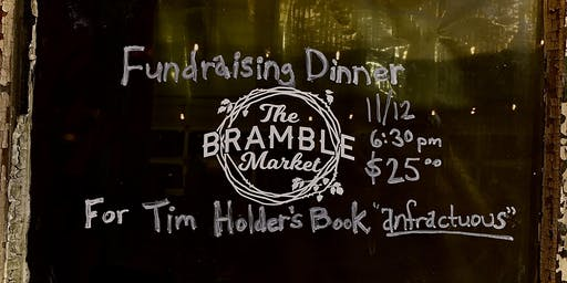 Fundraising Dinner For Tim Holder's Book, Anfractuous.