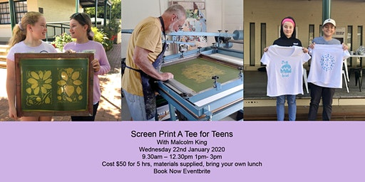 Screen Printing for Teens with Malcolm King