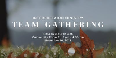 Interpretation Ministry Gathering