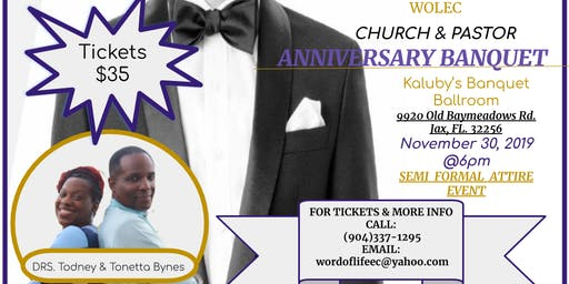 WOLEC 7th  Church/Pastor Anniversary Banquet