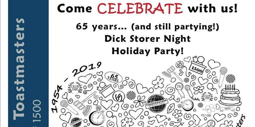 65th Anniversary of the Mt Prospect Toastmaster & Dick Storer Night
