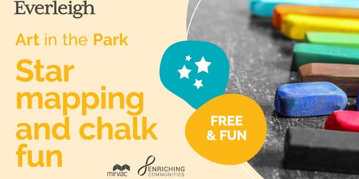 Free 'Art in the Park' Workshops - Chalk drawings (Stars and Planets)