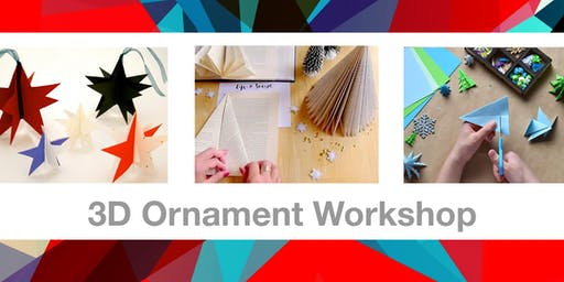 Upcycled 3D Ornament Workshop for Kids (Ages 8+)