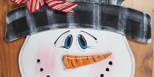 Snowman Painting Class