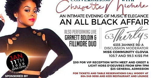 The Woody Foundation Presents : ConVERSation with Chrisette Michele All Black Affair