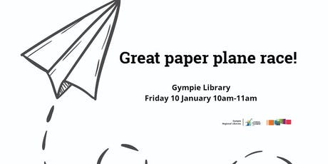 Great paper plane race! Gympie Library tickets