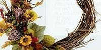 Create your own Grapevine Dried Flower Wreath