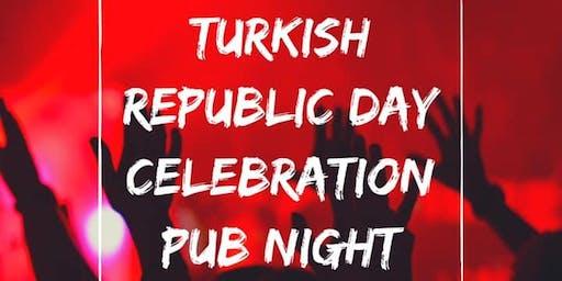 Turkish Republic Day Celebration Pub Night