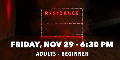 11/29 Urban Dance Class   Adults - Beginners   By RESIDANCE