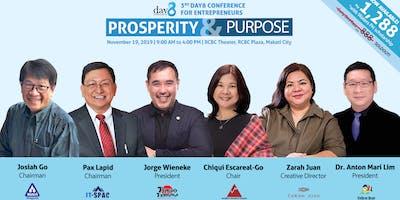 3rd Day8 Conference for Entrepreneurs: Prosperity