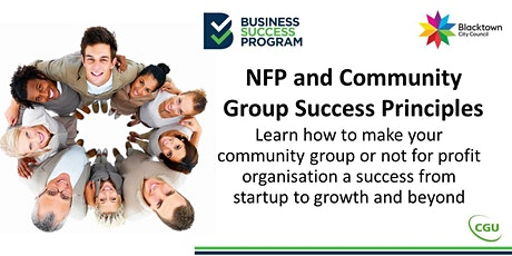 NFP & Community Group Success Principles tickets