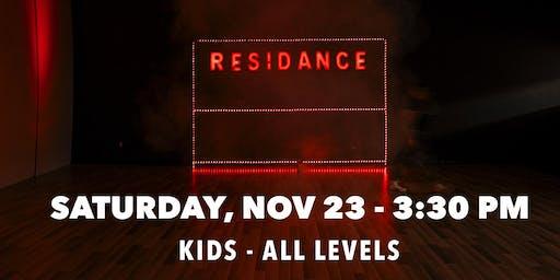 11/23 Urban Dance Class   Kids - All levels   By RESIDANCE