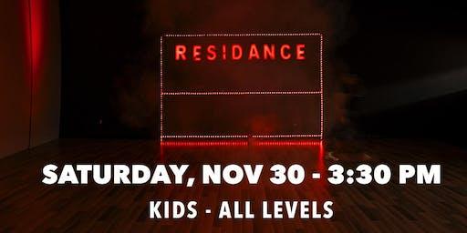 11/30 Urban Dance Class   Kids - All levels   By RESIDANCE