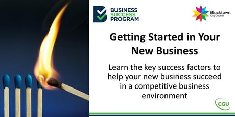 Getting Started in Your New Business tickets