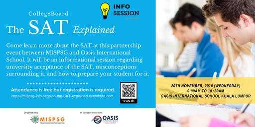 MISPSG Info Session:   The SAT by CollegeBoard Explained