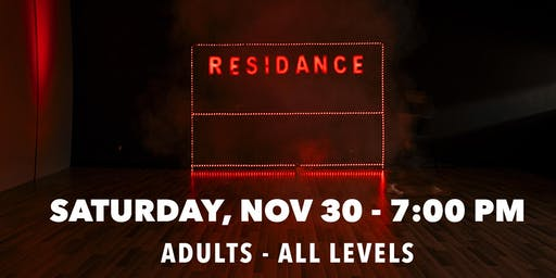 11/30 Urban Dance Class | Adults - All levels | By RESIDANCE