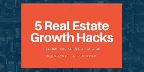 5 Real Estate Growth Hacks tickets