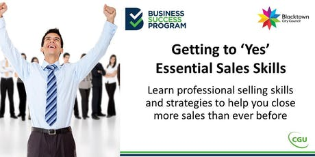 Getting to 'Yes', Essential Sales Skills tickets