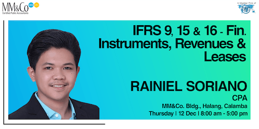 IFRS 9, 15 & 16-Fin. Instruments, Revenues & Leases