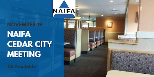 NAIFA Cedar City November Meeting