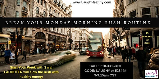 Laughter Yoga on the Phone Monday Mornings with Sarah from Wherever You Are
