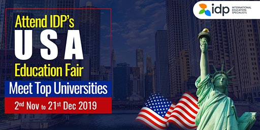 Attend IDP's  biggest USA Education  Fair 2019 in Somajiguda, Hyderabad