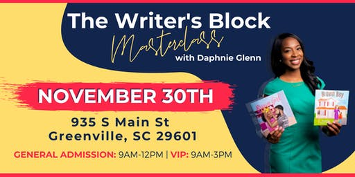 The Writer's Block Masterclass with Daphnie Glenn