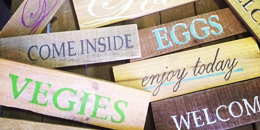 Pallet Signs Workshop  (Adults only)