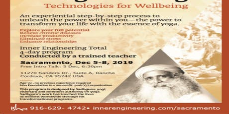 Inner Engineering Total - Find Health, Peace, and Joy from Within tickets