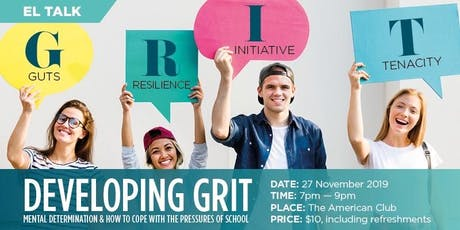 Developing GRIT: Mental Determination & How to cope with Pressure of School tickets