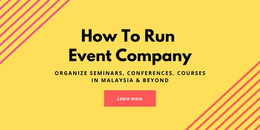 How to Start, Run, and Grow a Conference Organizing Business