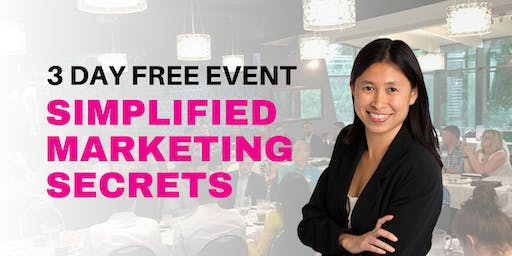 Simplified Marketing Workshop - 3 Day FREE Event - For Startup & Small Biz