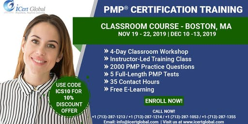 PMP® Certification Training Course in Boston, MA | 4-Day PMP BootCamp