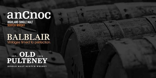 anCnoc, Balblair, & Old Pulteney Scotch Whisky Tasting with Gregor Stirling
