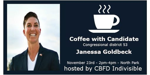 CA53 Candidate Series: Coffee and Conversation with Janessa Goldbeck